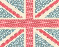 Bloemen Union Jack Royalty-vrije Stock Afbeelding
