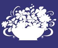 Bloemen in vaas Royalty-vrije Stock Foto's
