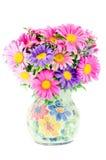 Bloemen in vaas Stock Foto's