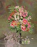 Bloemen in vaas Royalty-vrije Stock Foto