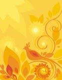 Bloemen van de Vogel Reeks Als achtergrond Stock Afbeeldingen