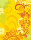 Bloemen van de Vogel Reeks Als achtergrond Royalty-vrije Stock Afbeeldingen