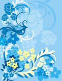 Bloemen van de Vogel Reeks Als achtergrond Stock Foto's