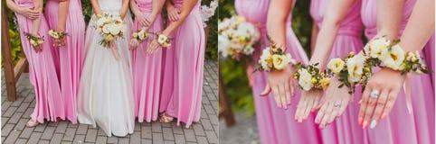 Bloemen van het Srt de bruids huwelijk stock foto