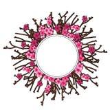 Bloemen van kersenkroon en van de takjesvakantie concept royalty-vrije illustratie