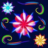Bloemen van neon Royalty-vrije Stock Foto's
