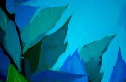 Bloemen van roos en blauwe hemel, het schilderen Stock Foto