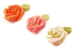 Bloemen van Sushi Stock Foto's