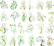 Bloemen vastgestelde vector Stock Foto's