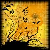 Bloemen vector als achtergrond Royalty-vrije Stock Foto's