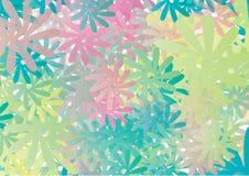 Bloemen vector als achtergrond Royalty-vrije Stock Foto