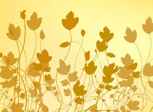 Bloemen Vector Als achtergrond stock illustratie