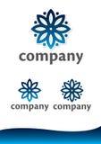 Bloemen vector logotype Stock Afbeeldingen