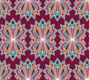 Bloemen vector naadloos patroon Etnische eindeloze achtergrond royalty-vrije illustratie