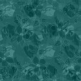 Bloemen vector naadloos patroon op groene, abstracte achtergrond stock illustratie