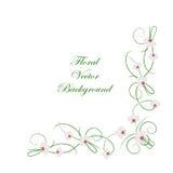 Bloemen vectorachtergrond royalty-vrije illustratie
