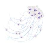 Bloemen vectorachtergrond stock illustratie