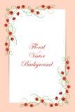 Bloemen vectorachtergrond vector illustratie
