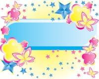 Bloemen vectorachtergrond Royalty-vrije Stock Afbeelding