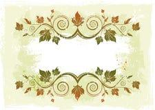 Bloemen vectorframe Stock Foto