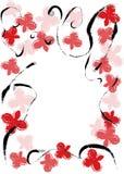 Bloemen vectorframe Stock Afbeelding