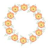Bloemen vectorframe Royalty-vrije Stock Afbeeldingen