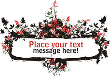 Bloemen vectorframe reeks Royalty-vrije Stock Fotografie