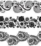Bloemen vectorgrenzen Royalty-vrije Stock Fotografie