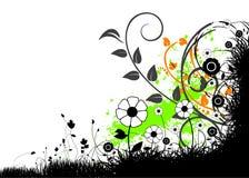Bloemen vectorillustratie Royalty-vrije Stock Afbeeldingen