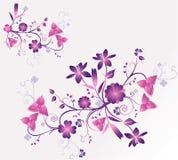 Bloemen vectorillustratie Stock Foto