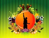 Bloemen vectorillustratie Royalty-vrije Stock Foto