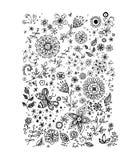 Bloemen, vectorillustratie Stock Foto