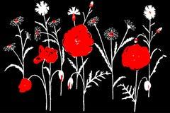 Bloemen vectorillustratie eps10 jpg royalty-vrije illustratie