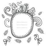 Bloemen vectorkaart Royalty-vrije Stock Afbeeldingen