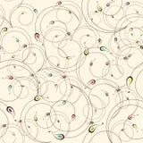 Bloemen vectorkrommenbehang Achtergrond patroon Stock Fotografie