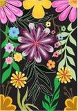 Bloemen  vectorontwerp Stock Afbeelding