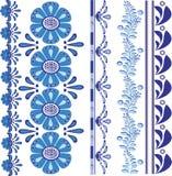 Bloemen vectorontwerpgrens stock illustratie