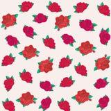 Bloemen vectorpatroon Royalty-vrije Stock Afbeelding