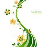 Bloemen vectorsamenstelling Royalty-vrije Stock Afbeelding
