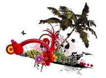 Bloemen vectorsamenstelling Stock Foto's