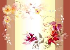 Bloemen vectorsamenstelling met ruimte voor tekst Stock Foto's