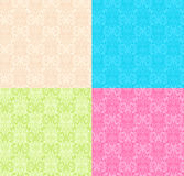 Bloemen veelkleurige Naadloze patronen stock illustratie