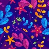 Bloemen vereenvoudig naadloos patroon royalty-vrije illustratie