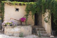 Bloemen Verfraaide schuur Royalty-vrije Stock Afbeeldingen