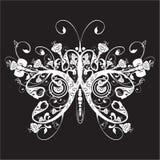 Bloemen vlinder Royalty-vrije Stock Foto