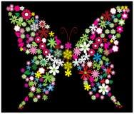 Bloemen vlinder Royalty-vrije Illustratie