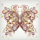 Bloemen vlinder Royalty-vrije Stock Fotografie