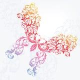 Bloemen vlinderachtergrond Stock Afbeelding