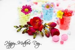 Bloemen voor Moeder` s Dag Stock Afbeeldingen