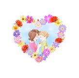 Bloemen voor mum royalty-vrije illustratie